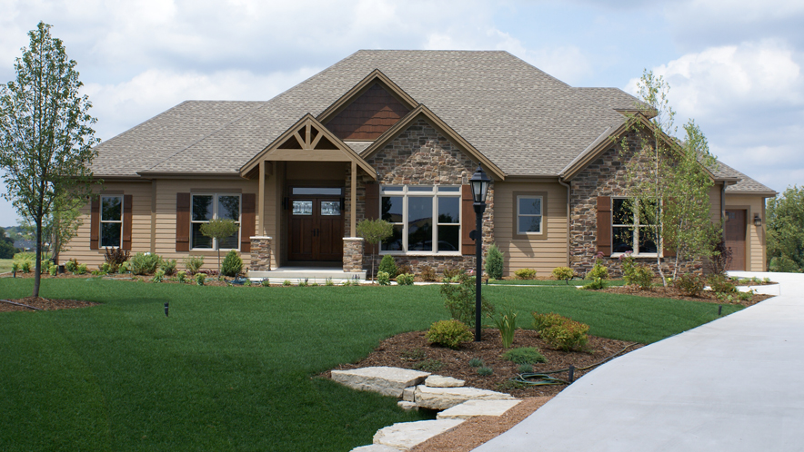 Landscaping for craftsman style homes house design plans for Craftsman landscape design ideas